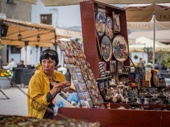 Suspicious Street Vendor in Riga | Latvia