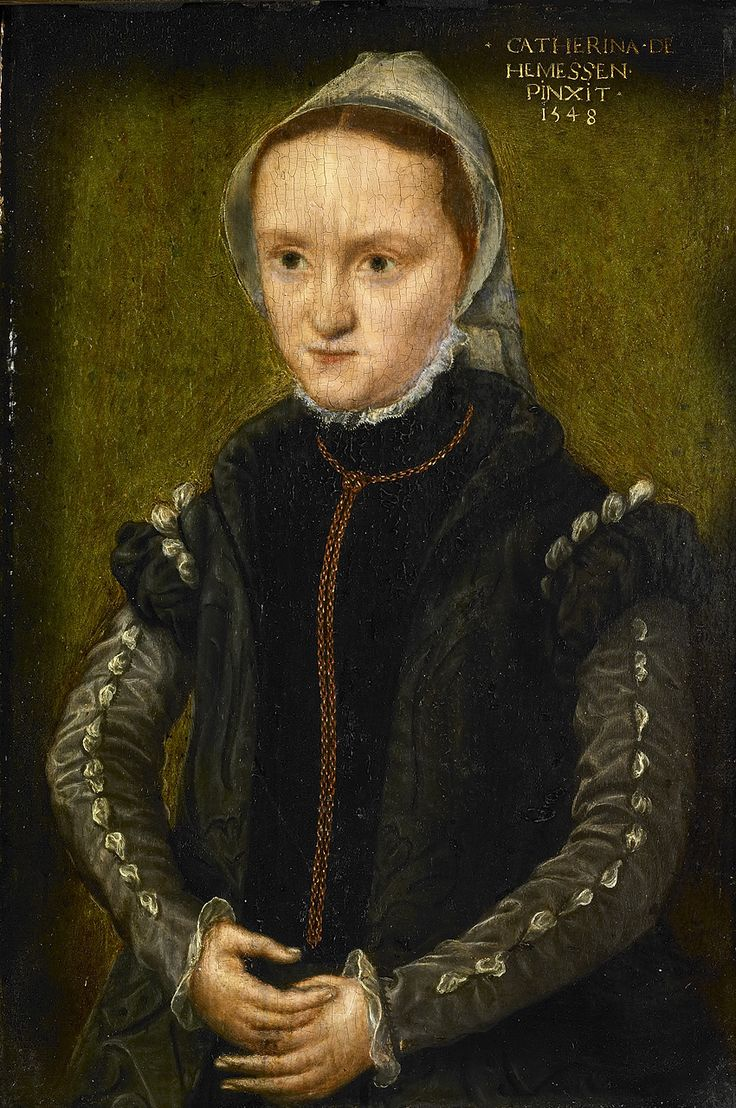 Катерина ван Хемессен. Портрет женщины. Courtesy of Rijksmuseum, Amsterdam    Фламандская художница (1528-1588) была дочерью довольно известного мастера Яна ван Хемессена, который и обучил ее живописи. В основном писала портреты, но сохранились и ее картины на религиозные сюжеты