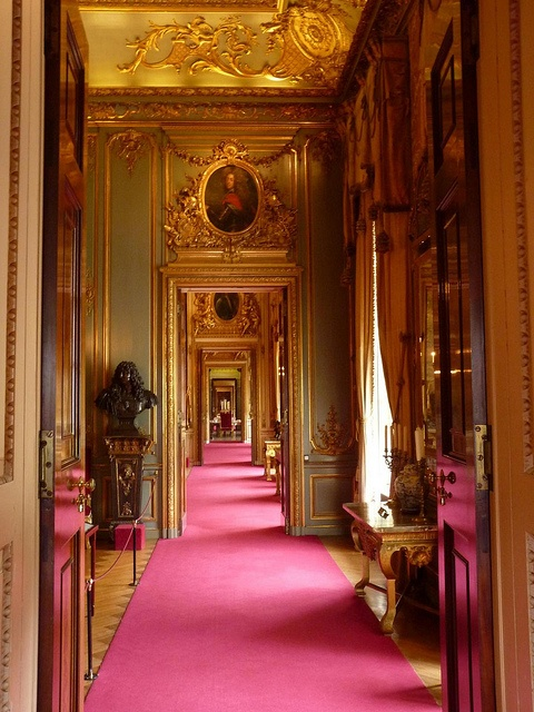 A hall at Blenheim Palace in Woodstock, Oxfordshire, England