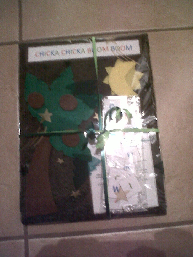 Mini Chicka Chicka Boom Boom Set w/ Felt Board $10.00