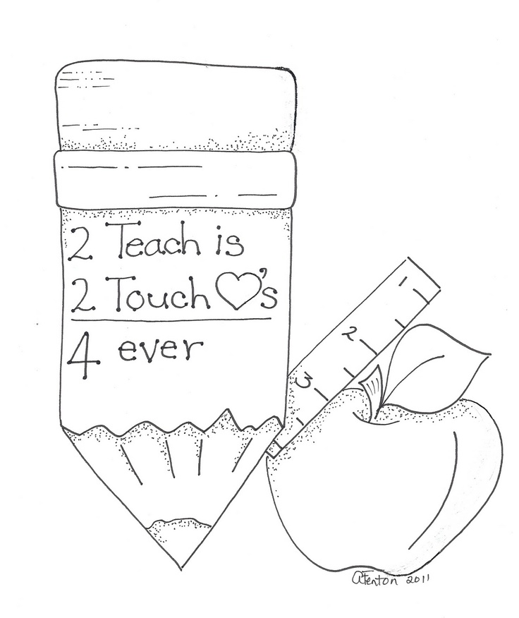 sweet stitchery for a teacher gift!  :)
