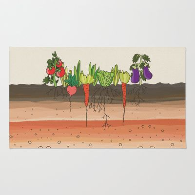 Earth soil layers vegetables garden cute educational for Earth soil layers