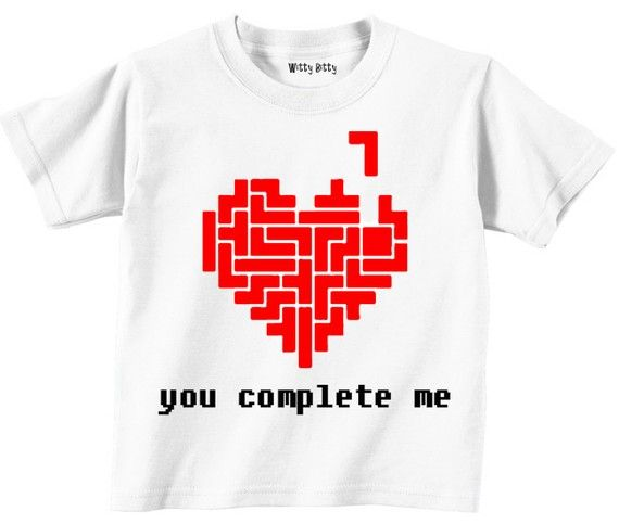 You Complete Me  Tetris  Valentines Day  Love  by WittyBitty, $13.00