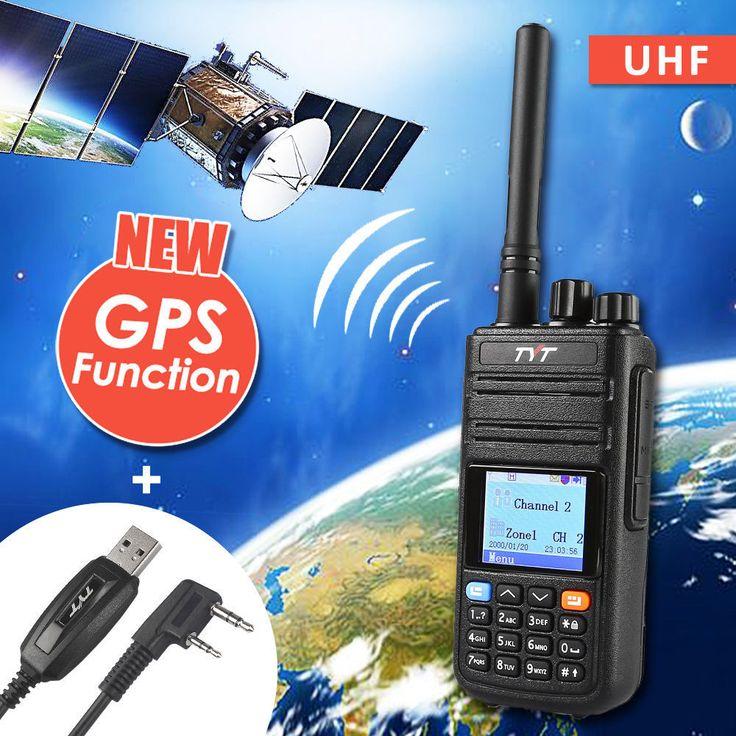 Tyt tytera md-380g gps uhf 400-480 mhz dmrデジタルラジオトランシーバーアマチュア無線トランシーバでgps md380 + usbプログラミングケーブル& cd