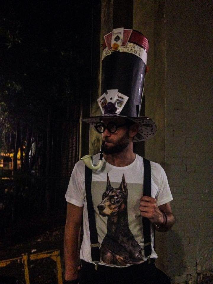 Hand made hat!  Mad Hatter, Mardi Gras Sydney 2016