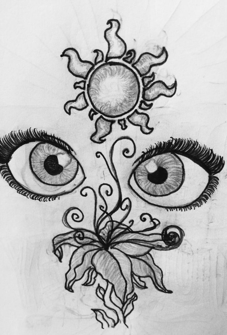 Rapunzel Disney drawing ideas easy Sun flower eye cute