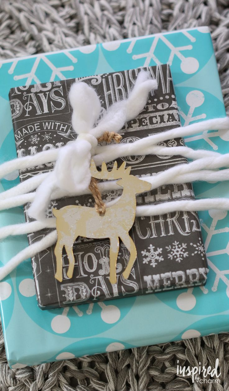 12 Holiday Gift Wrapping Ideas for unique and festive giving.   inspiredbycharm.com