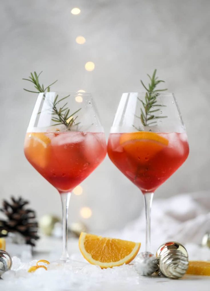 Winter Aperol Spritz   – Adult Libation -cheers!