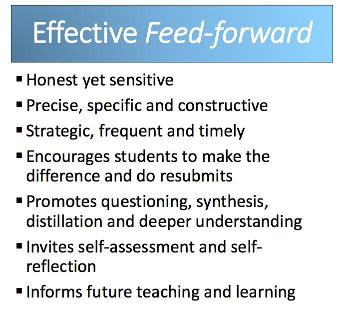 Characteristics of effective feedforward. Karen Yager.