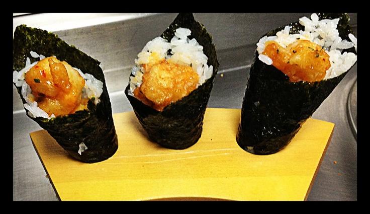 Hand Rolled Tempura Rock Shrimp     @TaoNY