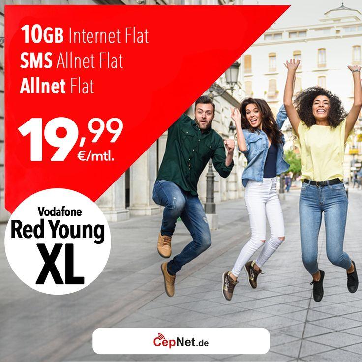 📣  Heey, verpasst diese Aktion nicht!   🎈  Vodafone Red Young XL 19,99€  👉  https://www.cepnet.de/simonly/vodafone/red-young-xl/1999/vodafone/young-xl-5-aktionstarif-rabattiert/?utm_source=cepnet&utm_medium=vodafone&utm_campaign=sosyal_diger    ✅3 Monate Grundpreisfrei!  ✅Telefonie-Flat* in alle dt. Handy-Netze  ✅Telefonie-Flat* ins dt. Festnetz  ✅SMS & MMS Flat* in alle dt. Handy-Netze  ✅Internet Flat* 10 GB mit bis zu 500 mbit/s LTE (danach Drosselung auf 32 Kbit/s)  ✅EU Roaming Flat…