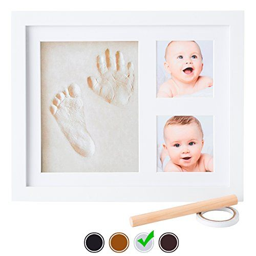 Baby Handprint Kit by Little Hippo - Baby Picture Frame (WHITE) & Non Toxic CLAY! Unique Baby Gifts Personalized for Baby Shower Gifts! Baby Boy Gifts, Baby Girls Gifts, for Baby Registry!. For price & product info go to: https://all4babies.co.business/baby-handprint-kit-by-little-hippo-baby-picture-frame-white-non-toxic-clay-unique-baby-gifts-personalized-for-baby-shower-gifts-baby-boy-gifts-baby-girls-gifts-for-baby-registry/