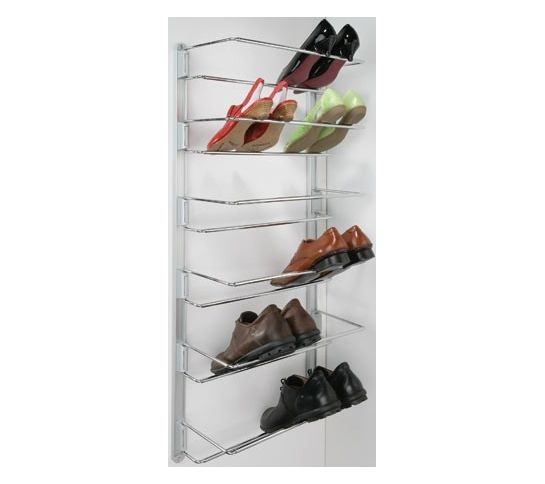 adjustable shoe rack 480 to 750mm chrome