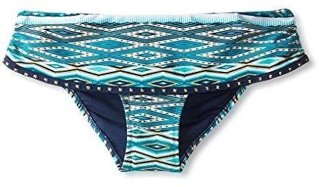 Jessica Simpson Women's Diamond Daze Skirted Bikini Bottom, Navy Multi, L