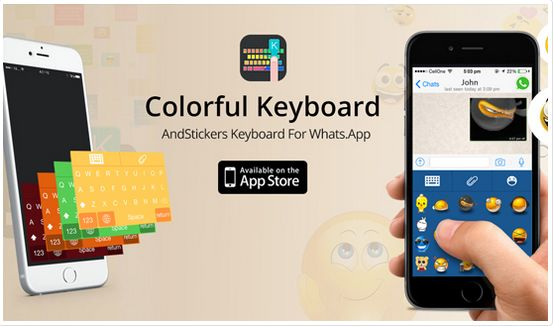 """Customize your keyboard with """"My Funky Color Emoji Keyboard""""."""