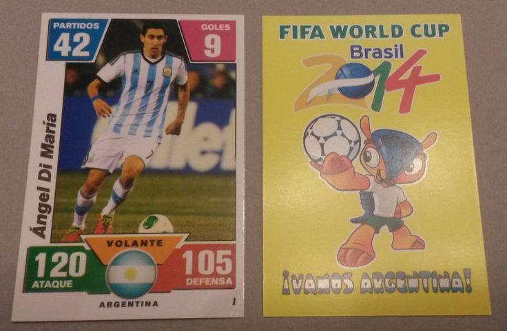 ANGEL DI MARIA -  ARGENTINA plastic trading card World Cup FIFA BRAZIL 2014  | eBay