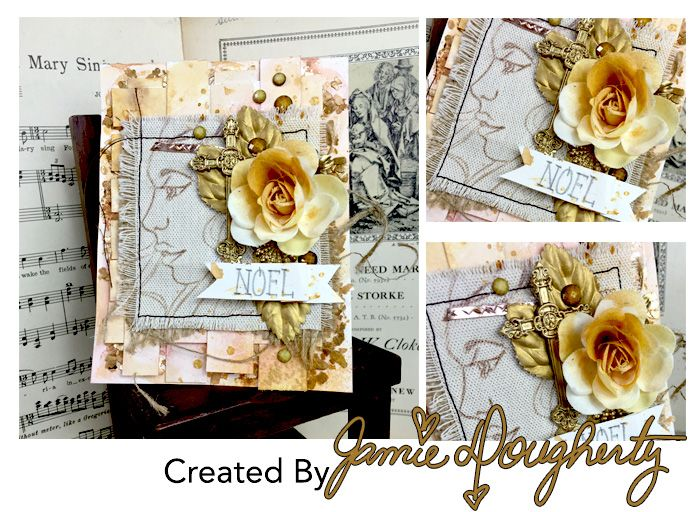 It's a BLOOMing 8th Day of Christmas! To finish our Bloom Collection card feature we have the Bloom line creator herself, Jamie, with this stunning card showing off her Free Spirit stamp! You can stamp on so many different media, opening up a hundred ways to use any of the Bloom stamps! Add a trendy touch of gold with our Art Ingredients, metals, or Color Bloom sprays for a card that is perfect for framing!