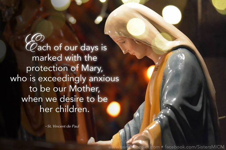 """""""Each of our days is marked with the protection of Mary, who is exceedingly anxious to be our Mother, when we desire to be her children."""" ~St. Vincent de Paul Life-size nativity at Saint Benedict Center, Still River MA. www.saintbenedict.com"""