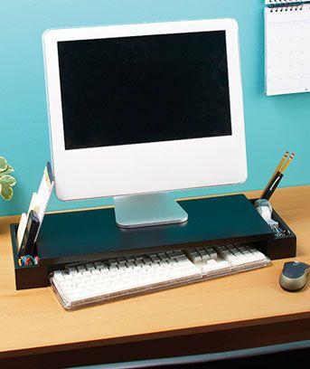 Computer Monitor Organizer   Ideas for Chris   Desk Space ...