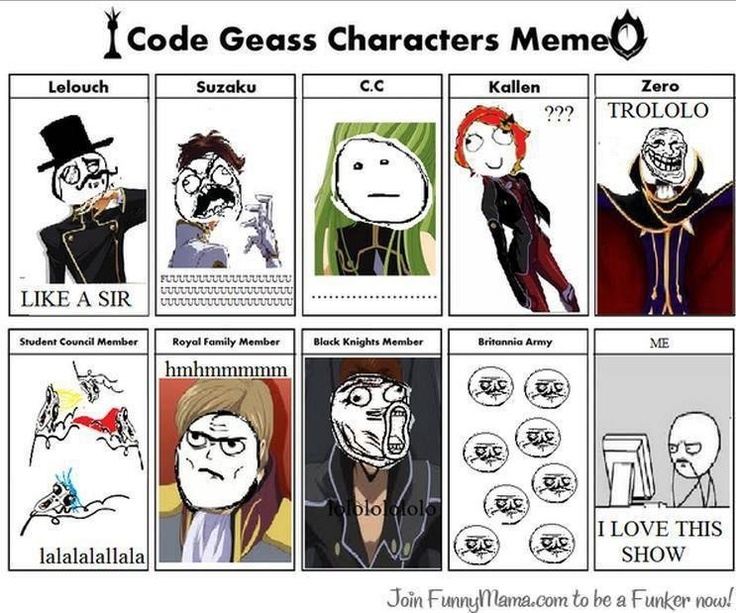 Love this show - Code Geass Meme
