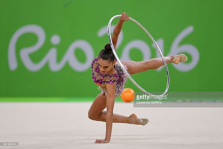 Margarita Mamun of Russia competes during the Rhythmic Gymnastics Individual All-Around on August 19, 2016 at Rio Olympic Arena in Rio de Janeiro, Brazil.