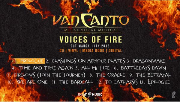 """Voices Of Fire"" von VAN CANTO Metal Vocal Musical erscheint bei earMusic/Edel"