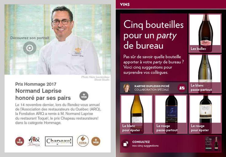 Cinq bouteilles pour un « party » de bureau - La Presse+