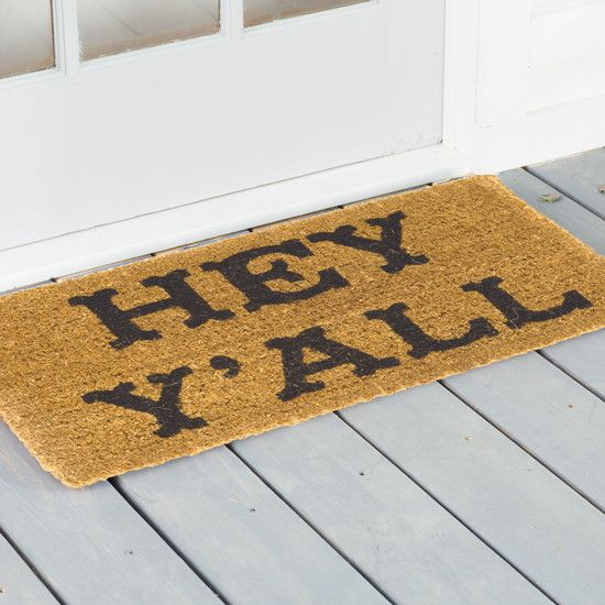 Hey Y'all Coir Doormat
