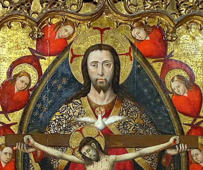 The Holy Trinity (detail) / La Santísima Trinidad (detalle) / La Trinité // Milieu du XVe siècle // Jaime Baço, dit Jacomart // Valencia, España // Palais des Beaux-Arts de Lille