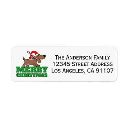 Les 25 meilleures idées de la catégorie Christmas return address - sample address label