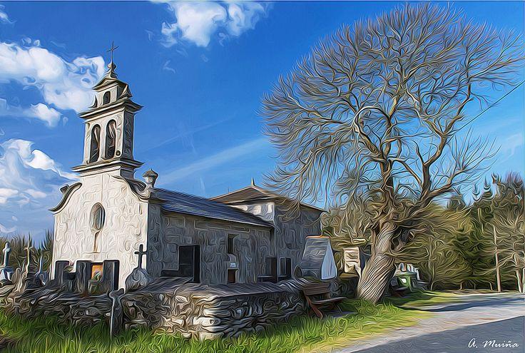 https://flic.kr/p/EQw9fd | In summer, the shadow of the tree protects the church. En verano, la sombra del árbol protege a la iglesia
