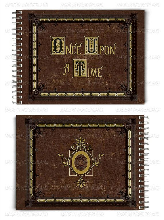 Once upon a time Storybook, Henry's Book, OUAT, Notebook, Magic, Fantasy, Fairy tale, Storybrook, Evil Queen, Rumpelstiltskin, The Dark One