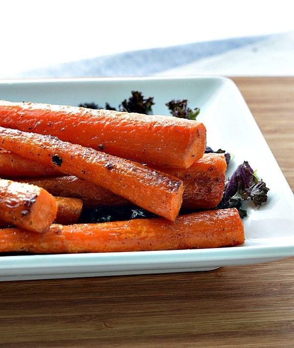 Печени моркови с мед