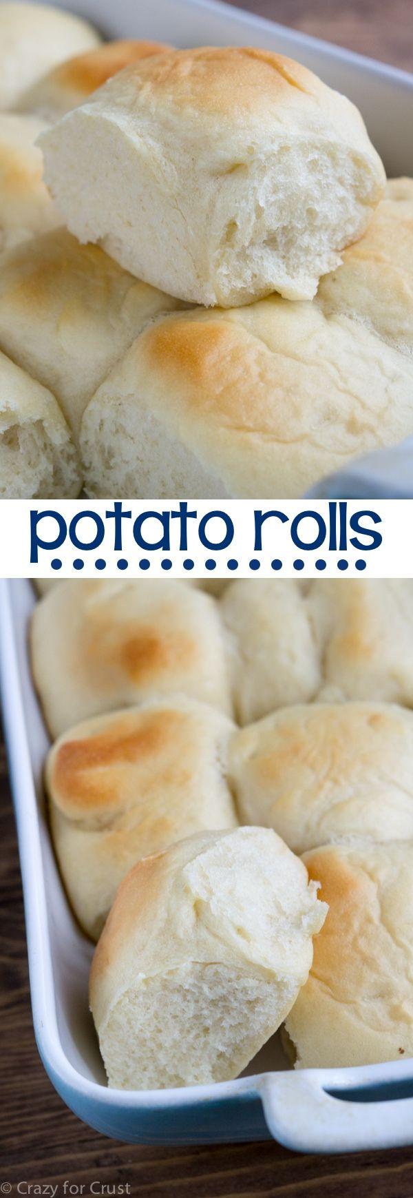 The fluffiest Potato Roll recipe you'll ever make! @crazyforcrust