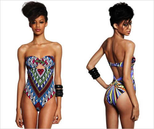 african inspired swimsuit! So nice!