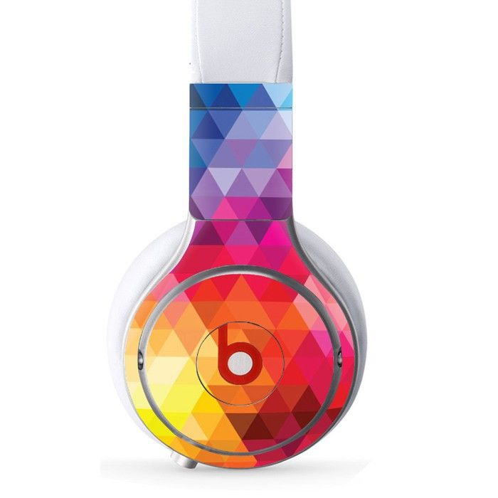 Pyramid Shape decal for Monster Beats Pro wireless headphones