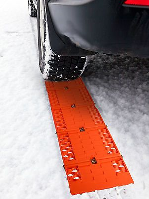 "38"" All-weather Fordable Car Tire Grip Traction Mat Chain for Snow Sand 2 Pack"