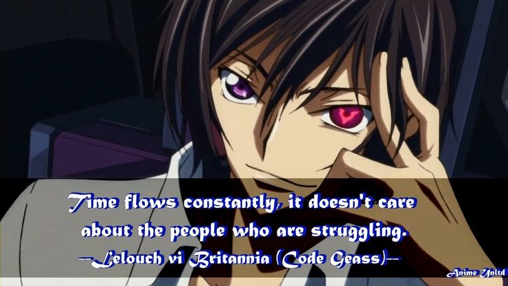 Lelouch vi Britannia Code Geass Quotes