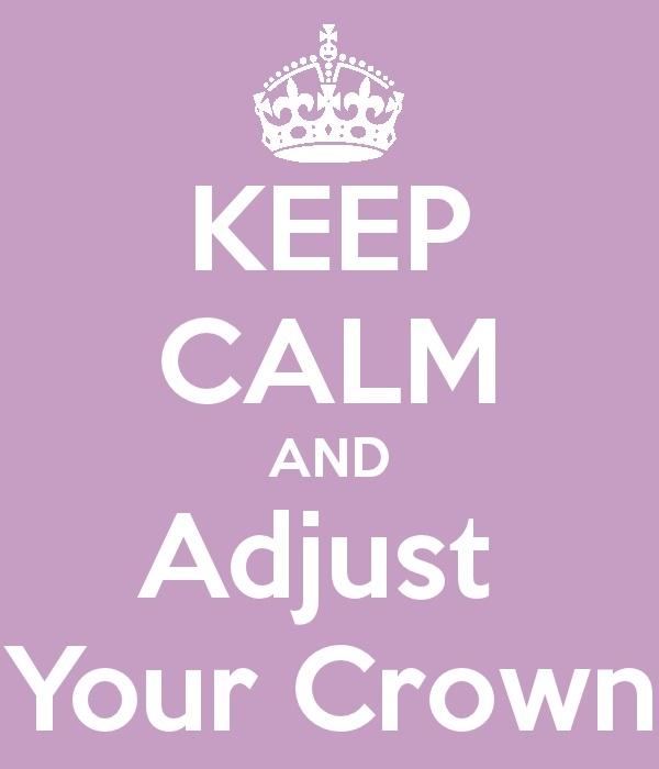 Make sure it's on nice & straight!: Two, The Queen, Crowns H, Crowns Queen, Crowns Crafts, To Be Queen Tiaras, Infj Sagittarius Queen, Adjustable, Good Advice