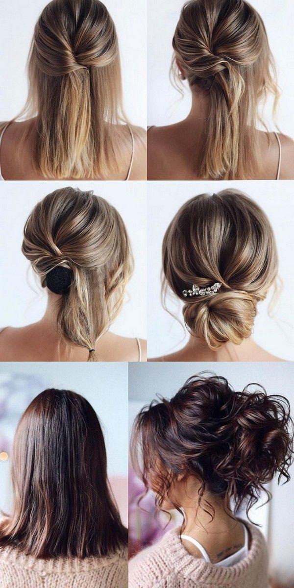 20 Medium Length Wedding Hairstyles For 2021 Brides Emmalovesweddings Short Wedding Hair Medium Length Hair Styles Medium Hair Styles