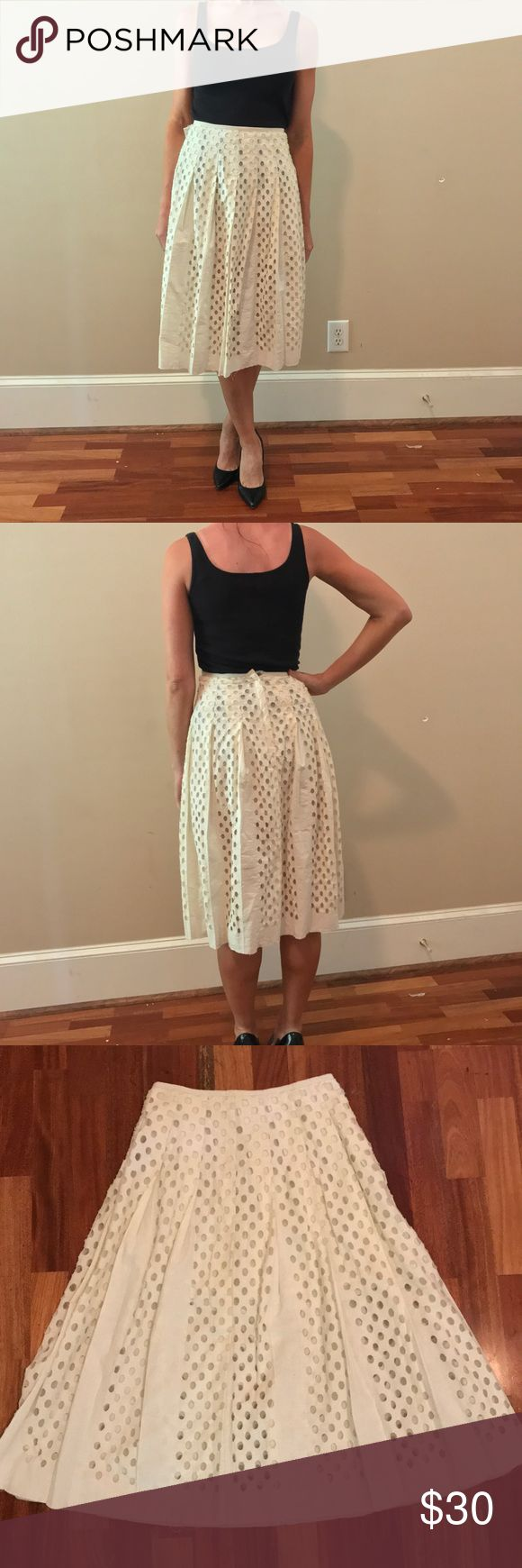 FP One Free People Skirt Size 0 NWOT!!!! This is a super cute FP One by Free People Size 0 Skirt. It comes with a built in slit that goes to the mid thigh and the remaining dots are see through. So nice!!!! Please feel free to make offers or bundle deals! Happy to negotiate!! Free People Skirts Midi