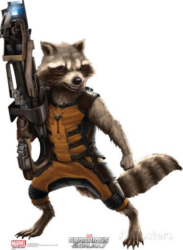 Marvel Guardians of the Galaxy - Rocket Raccoon Lifesize Standup Poster Cardboard Cutouts at AllPosters.com
