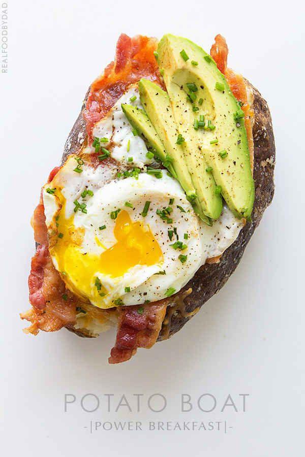 Frühstücks-Kartoffel-Avocado-Boot
