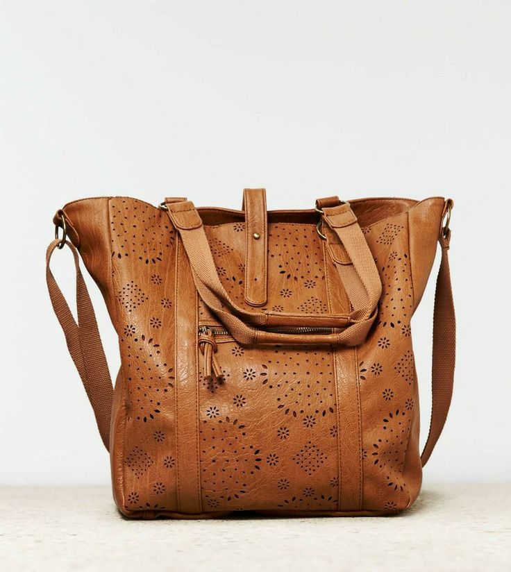 American Eagle Outfitters  AEO Faux Leather Tote Bag