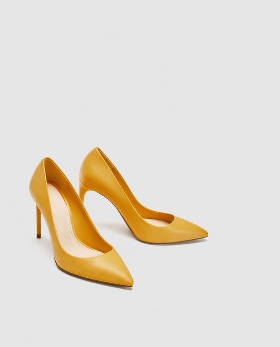 e1789a31823 изображение 3 из ЖЕЛТЫЕ ТУФЛИ НА КАБЛУКЕ от Zara Yellow High Heels