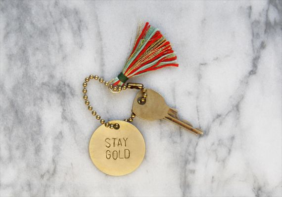 How-Tuesday: Stamped Brass Keychain
