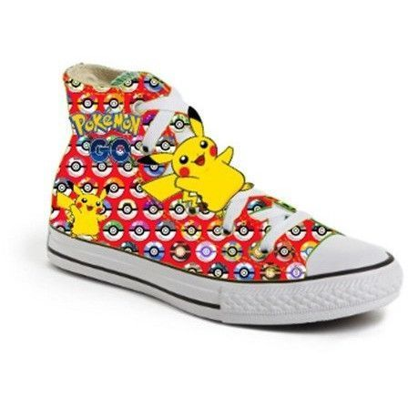 Red Limited Edition POKEMON BALL PIKACHU birthday inspired shoe (CONVERSE)
