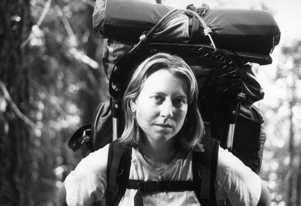 Cheryl Strayed at the beginning of her journey on the PCT.