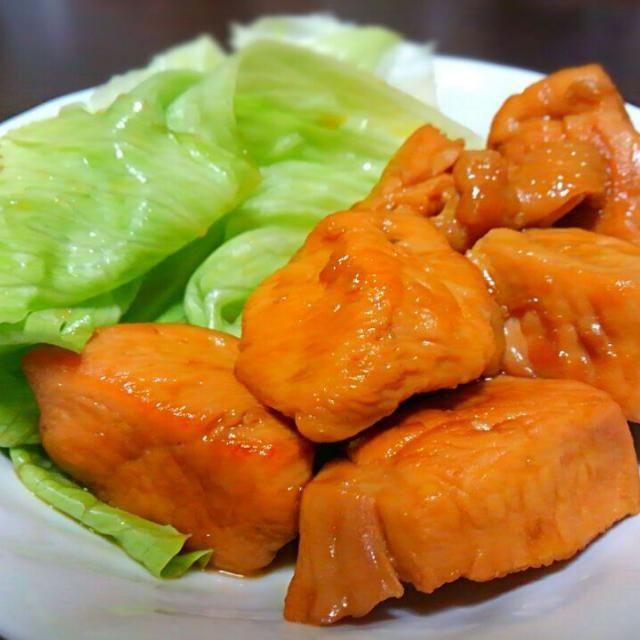 余ったオレンジジュースで。 - 1件のもぐもぐ - 鶏むね肉のオレンジソース煮 by shii21