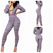 Fashion Club Neck Bodycon temperament blue print Jumpsuit Best Seller follow this link http://shopingayo.space